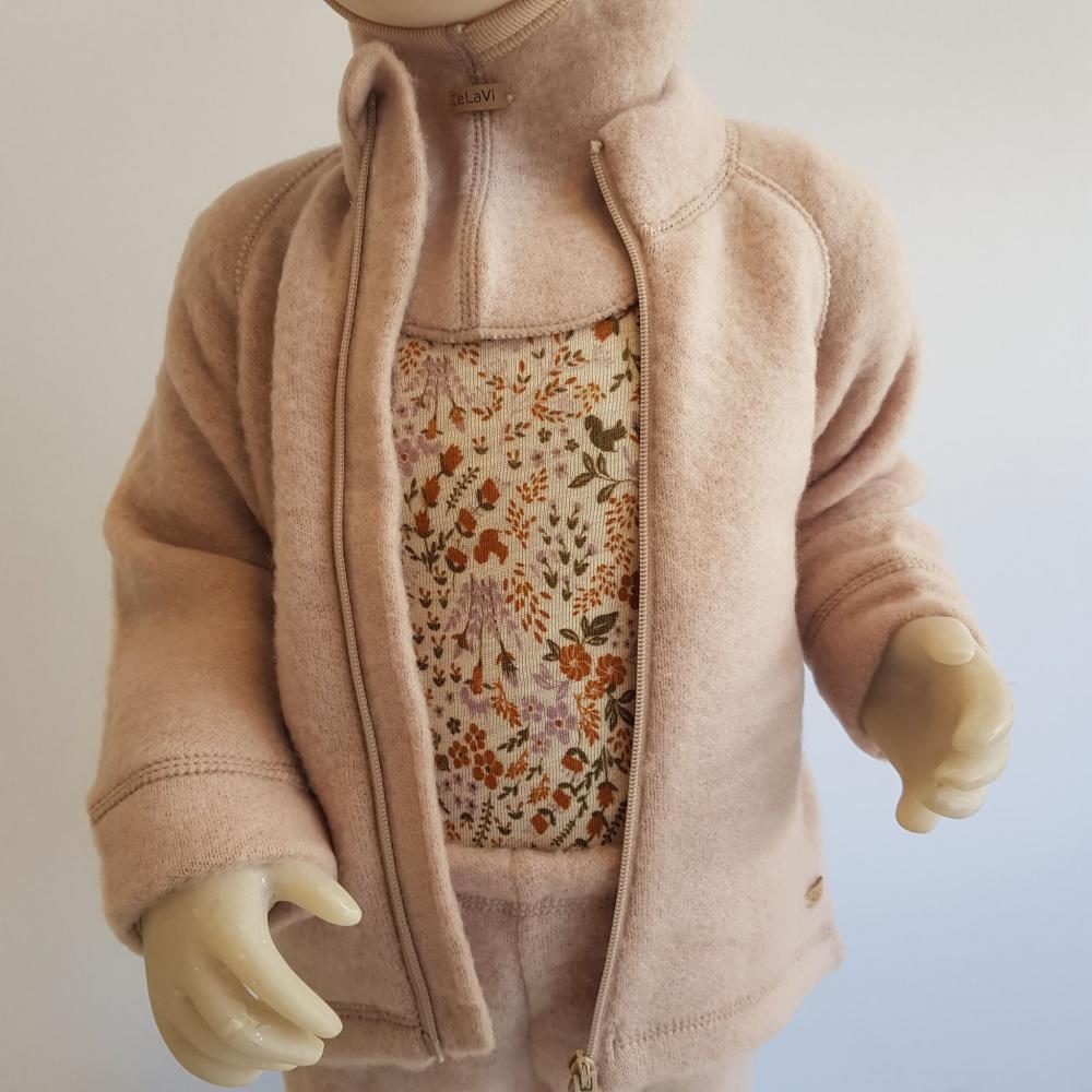 CeLaVi børsta ull jakke rosa Futurekids.no